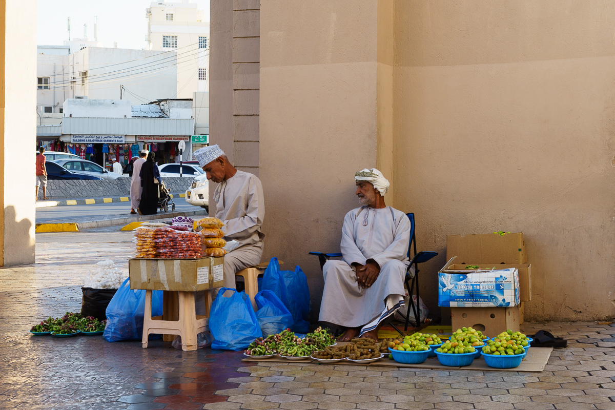 Fruit sellers in Mutrah souk