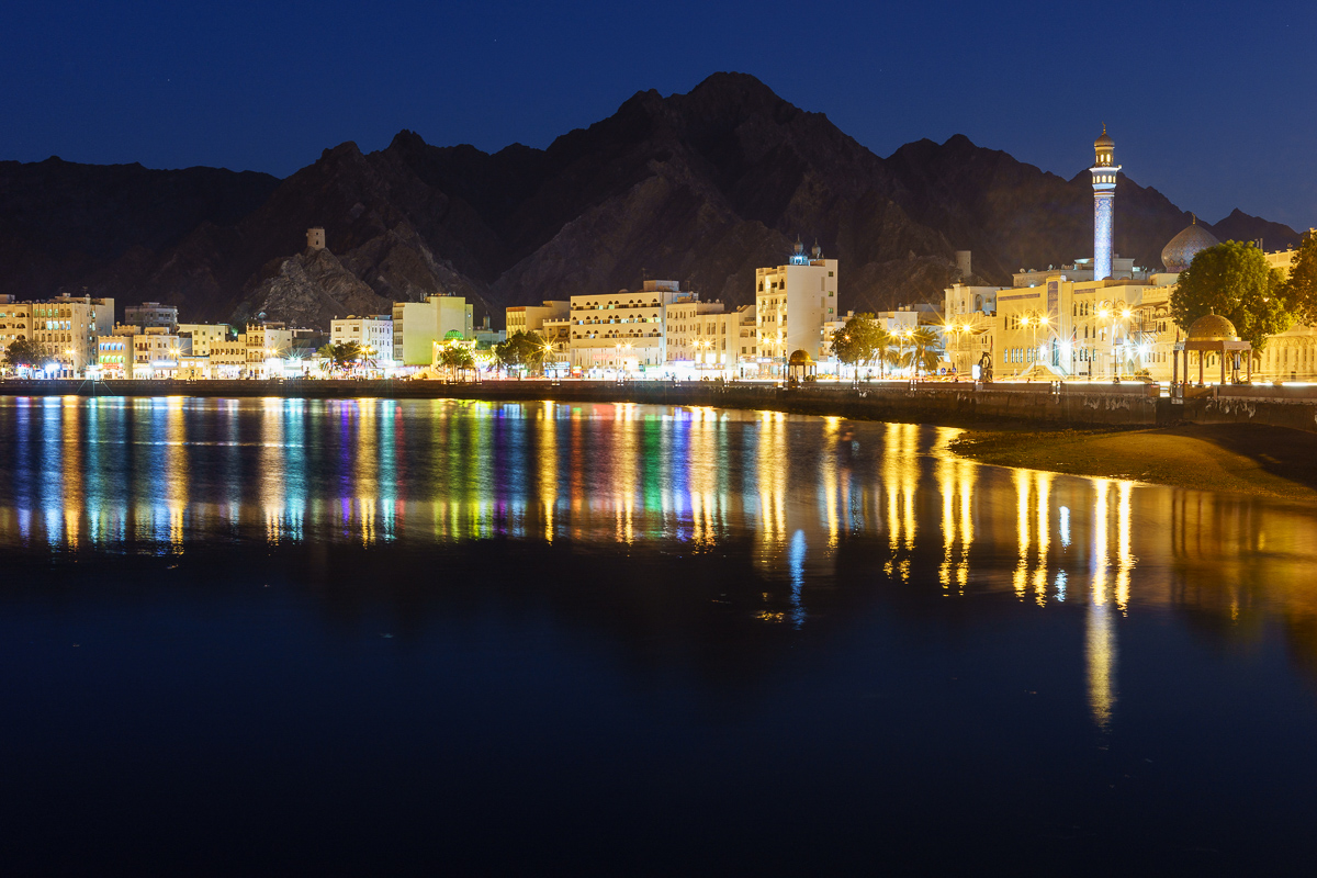 Mutrah Corniche at dusk