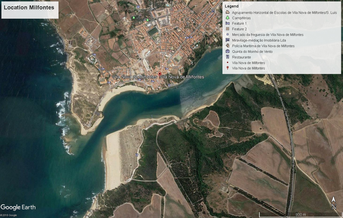 Milfontes - location